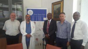 La visita di Basden Onwubere all'ospedale Gaslini