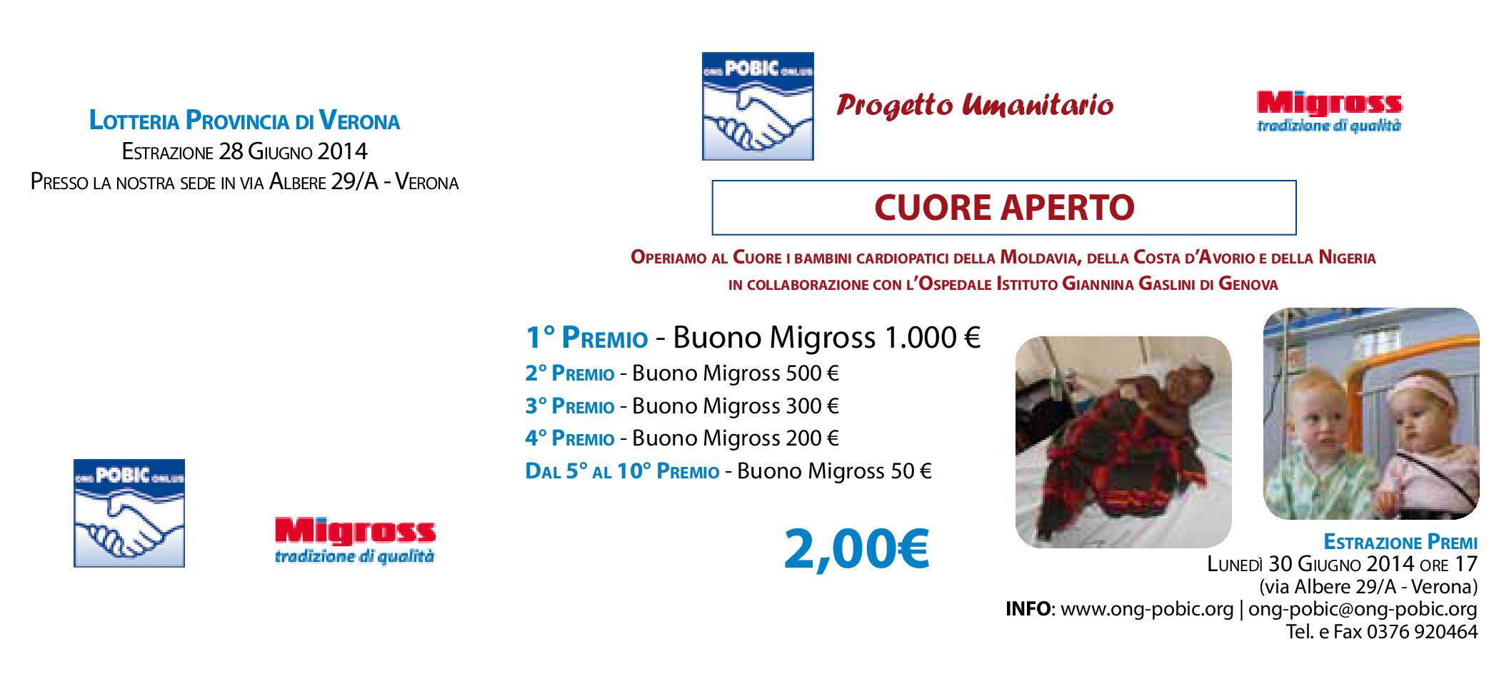 Biglietto Lette. ONG-POBIC 2014